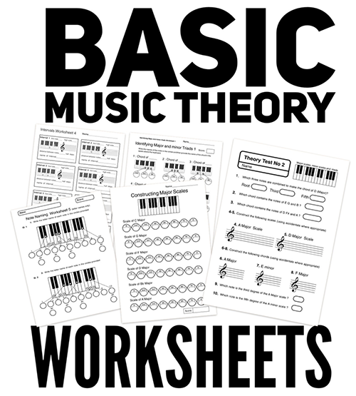 Basic  music theory worksheets