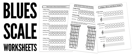 Blues Scale Music Theory Worksheets