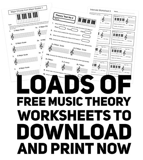 Free Music Theory Worksheets – Theory Worksheets