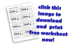 download free a musical intervals worksheet for your classroom now