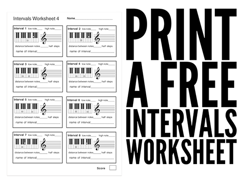 Music Intervals Worksheets 300 Printable Music Worksheets to
