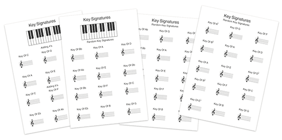 more music theory key signature worksheets pdf