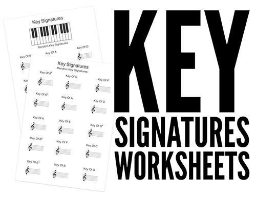 300 Printable Music Worksheets to Download Now – Key Signatures Worksheet