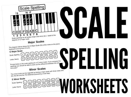 constructing major scales worksheet