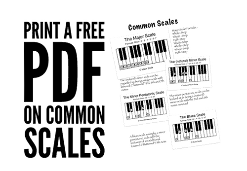 printable music worksheet on common scales