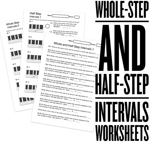 High School Music Worksheets on intervals