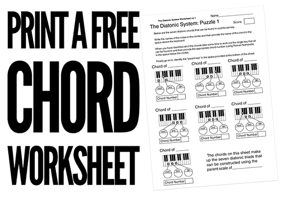 music theory chord worksheets and handouts