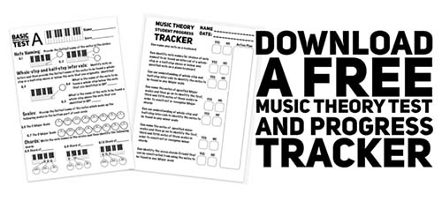 Free Music Theory Worksheet with student progress tracker