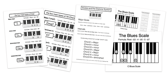 music theory handouts to print