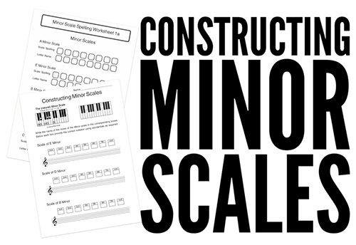 High School music theory lesson plans on minor scale construction
