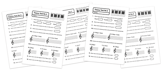 music theory tests to print