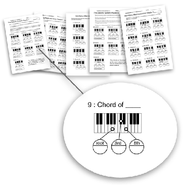 High School level music theory worksheets chords