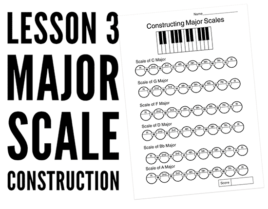 major scale PDF worksheets to print