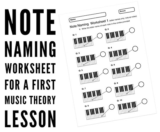 music theory worksheet on note naming