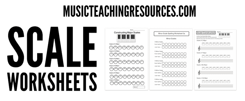 music scale worksheets