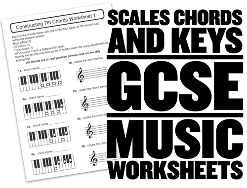 music worksheets and resources for GCSE