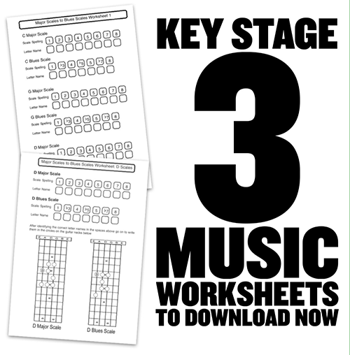 Blues Scale Worksheets